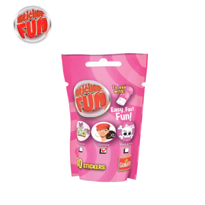 sticker fun refill girls roze