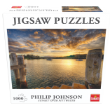 71380 Puzzle Philip Johnson Sunset over Pittwater F