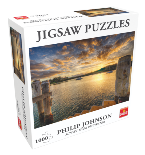 71380 Puzzle Philip Johnson Sunset over Pittwater L
